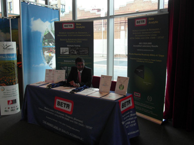 Alex Shroff at the Beta Analytic Booth